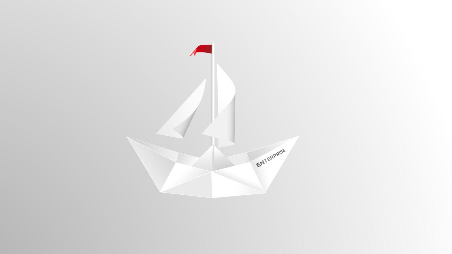 Papierschiff digital